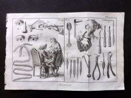Diderot 1780's Antique Medical Print. Chirurgie 24 & 25